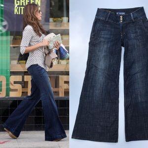 Hudson Wide Leg Sailor Jeans 3 Button Women's 28